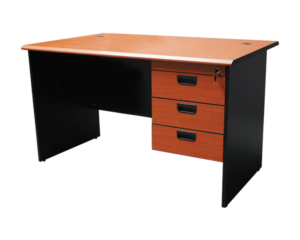 MOF-GE-120+H3-Office-Desk-Cherry