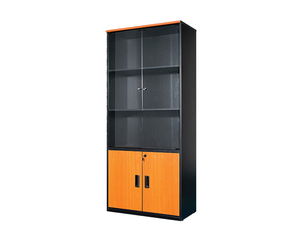 MOF-BF-GE-741-Glass-Door-Bookshelf-Cabinet-Cherry